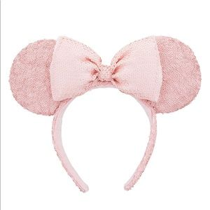 Sequined pale Pink color Disney Parks Ears